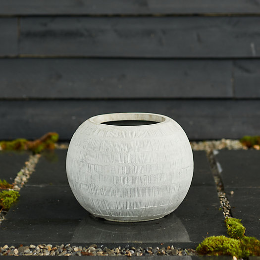 """View larger image of Neutral Textured Orb Pot, 14"""""""