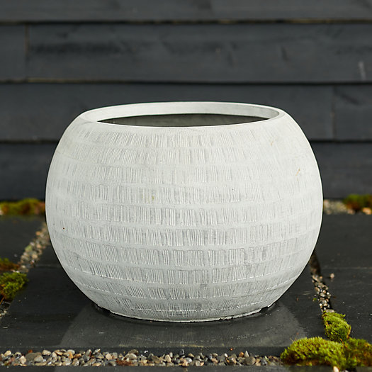 """View larger image of Neutral Textured Orb Pot, 22"""""""