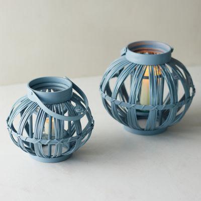 Bamboo + Glass Lantern