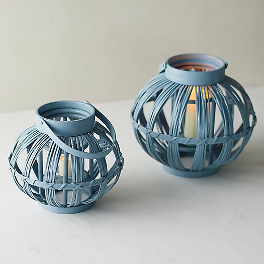 View larger image of Bamboo + Glass Lantern