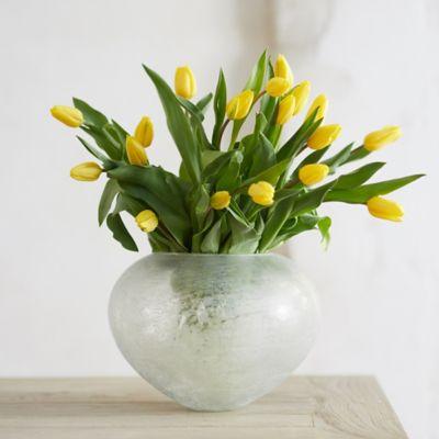 Distressed Low Vase