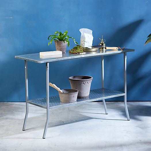 View larger image of Galvanized Steel Garden Console