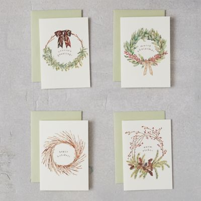 Holiday Wreath Cards