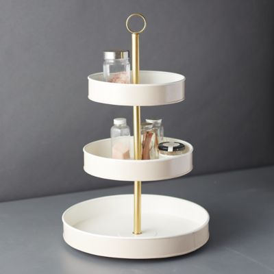 Enamel 3-Tier Tray