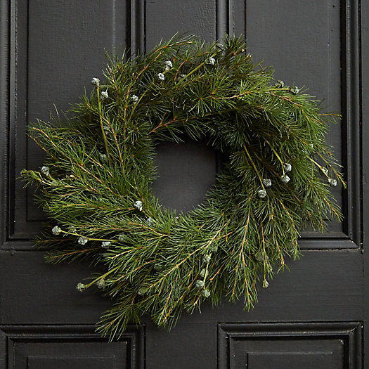 View larger image of Fresh Blue Atlas Cedar + Silver Bell Eucalyptus Wreath