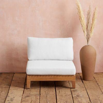 Sonoma Woven Teak Armless Chair