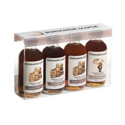 Runamok Smoke + Barrel Maple Syrups, Set of 4