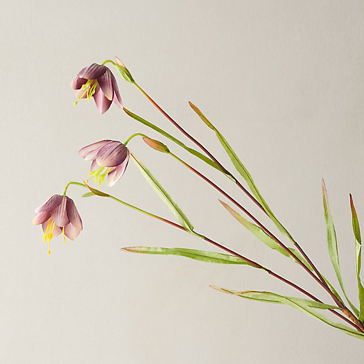 View larger image of Faux Fritillaria Spray, Purple
