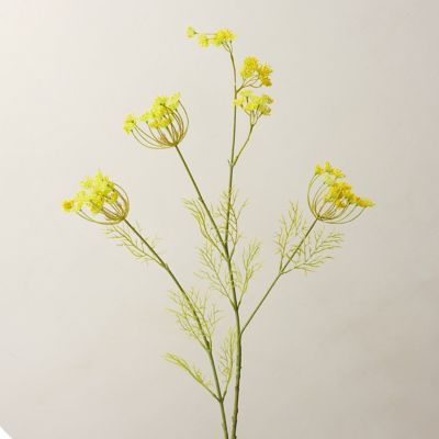 Faux Queen Anne Lace Spray, Yellow