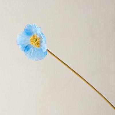 Faux Blue Poppy Stem