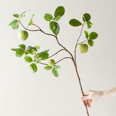 Faux Green Apple Branch