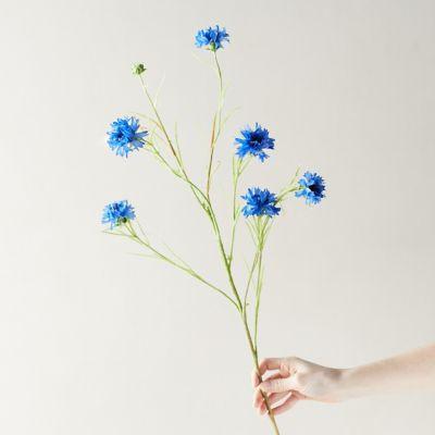 Faux Cornflower Blue Stem