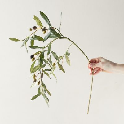 Faux Olive Leaf Spray