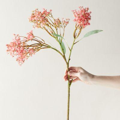 Faux Gypsophila Spray, Pink