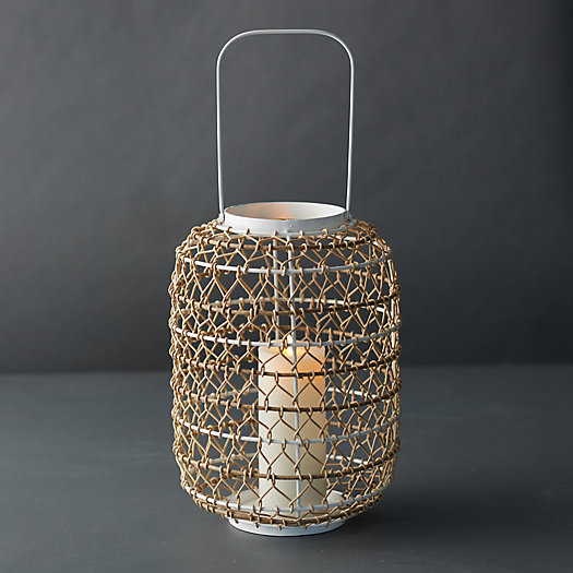 View larger image of Woven Oasis Lantern, Cylinder