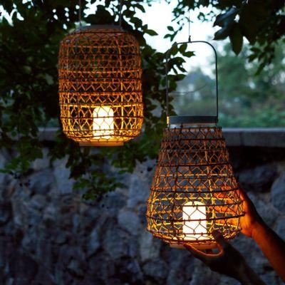 Woven Oasis Lantern, Cylinder