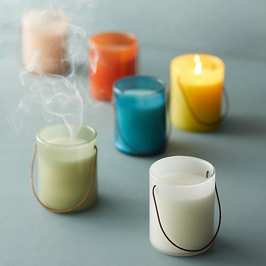 View larger image of Large Hanging Glass Candle, Eucalyptus Citronella