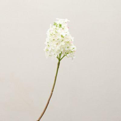 Faux Hydrangea Spray, White