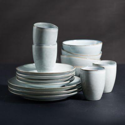 Ceramic Dinnerware Set for Four, 16 Pieces