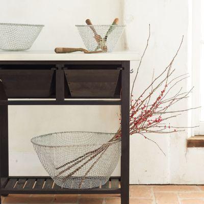 Woven Wire Storage Basket