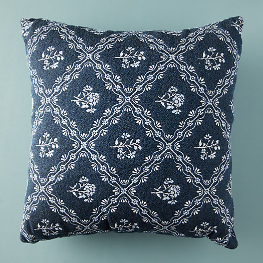 View larger image of Floral Diamond Outdoor Pillow