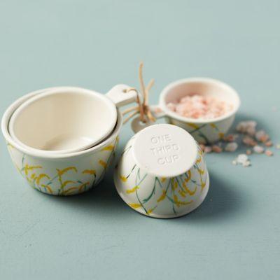 Goldenrod Ceramic Measuring Cups