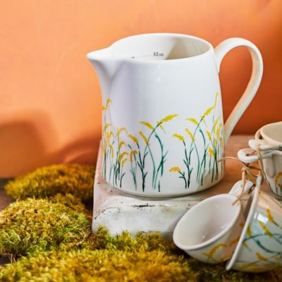 Goldenrod Ceramic Measuring Jug