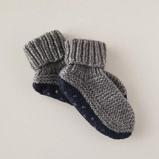 View larger image of Woven Wool Blend Slipper Socks