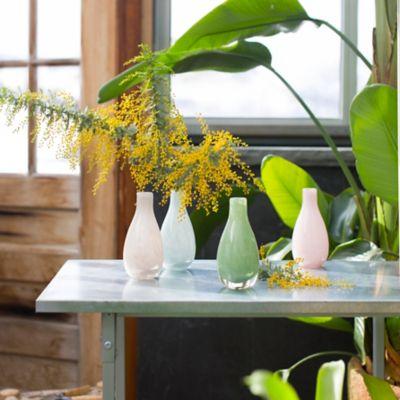 Swirled Movement Glass Bud Vase, Tall