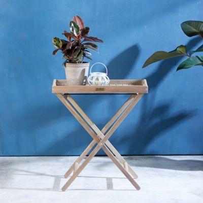 Folding Teak Tray Table