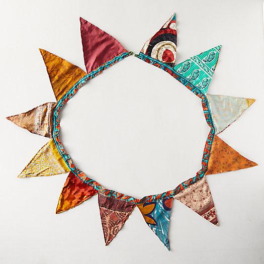 View larger image of Recycled Sari Fabric Bunting Garland