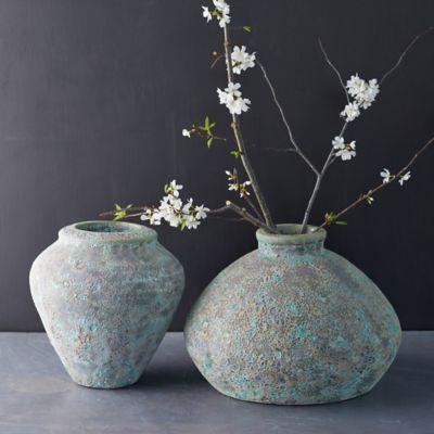 Speckled Concrete Urn Vase