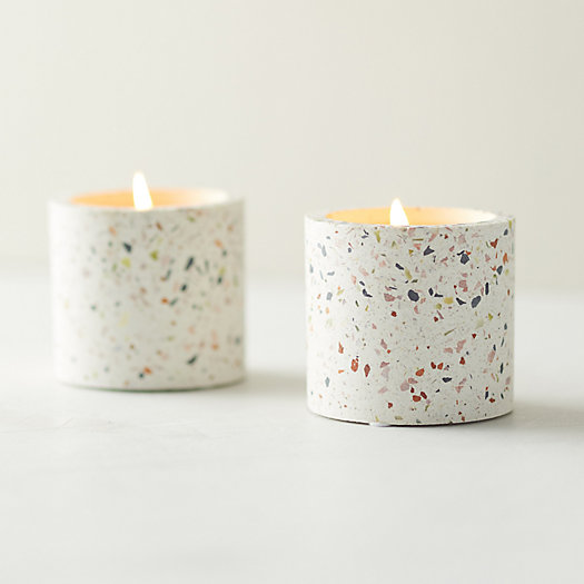 View larger image of Linnea Terrazzo Candle, Mint