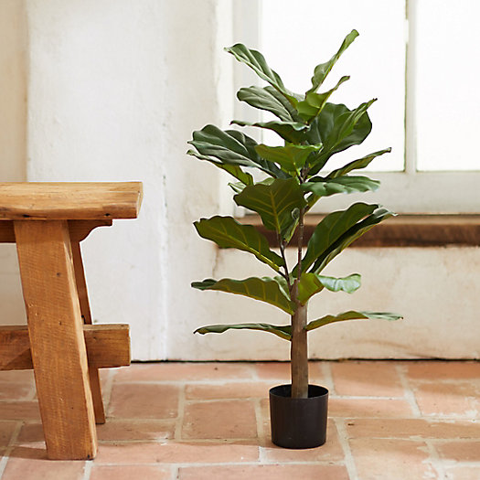View larger image of Faux Fiddle Leaf Fig Tree, 2.5'