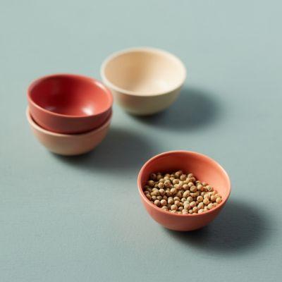 Ceramic Pinch Bowls, Pink Set of 4