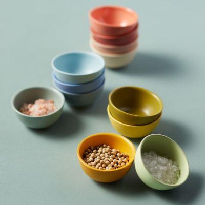 Ceramic Pinch Bowls, Green Set of 4