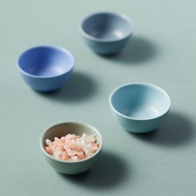 Ceramic Pinch Bowls, Blue Set of 4