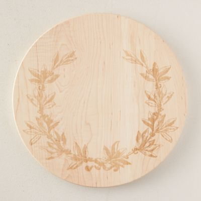 Etched Maple Cutting Board, Olive Branch