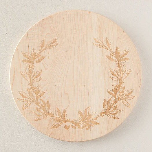 View larger image of Etched Maple Cutting Board, Olive Branch