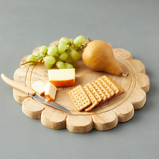View larger image of Scalloped Teak Serving Board