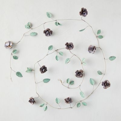 Purple Tea Rose Iron Garland
