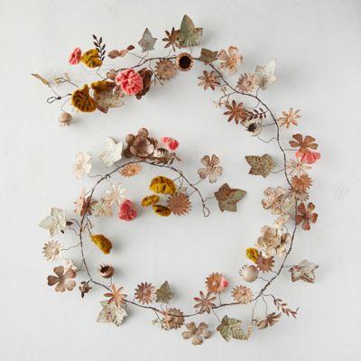 Blooming Botanicals Iron + Velvet Garland