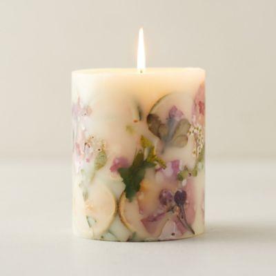 Pressed Botanicals Candle, Lemon + Lychee