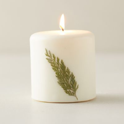 Botanical Pillar Candle, Forest