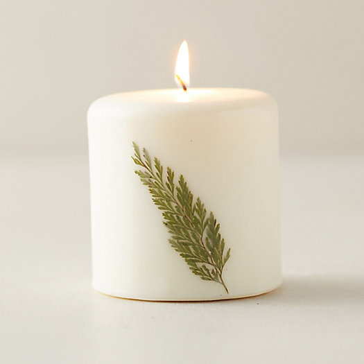 View larger image of Botanical Pillar Candle, Forest