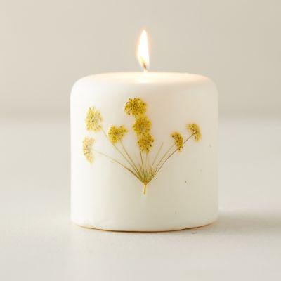 Botanical Pillar Candle, Honey Tobacco