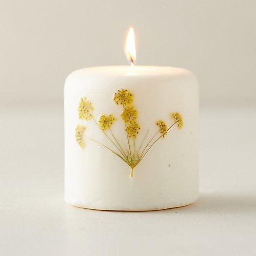 View larger image of Botanical Pillar Candle, Honey Tobacco