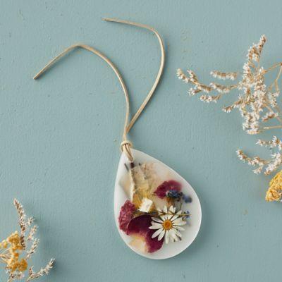 Pressed Flower Wax Sachet, Apricot Rose