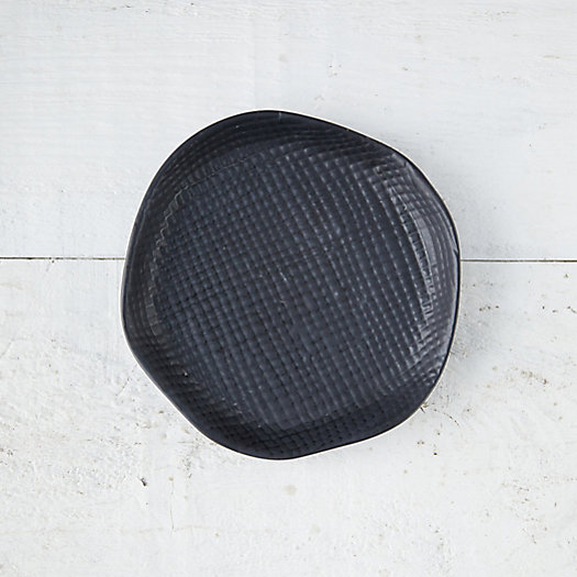 View larger image of Black Textured Ceramic Plant Tray, Small