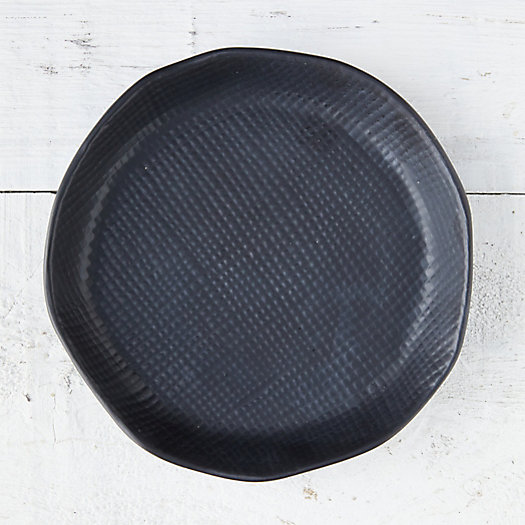 View larger image of Black Textured Ceramic Plant Tray, Medium